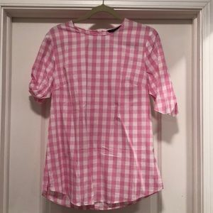 Banana Republic gingham blouse- size M, NWT